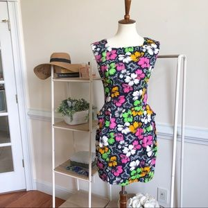 FRENCH CONNECTION bright floral a line dress